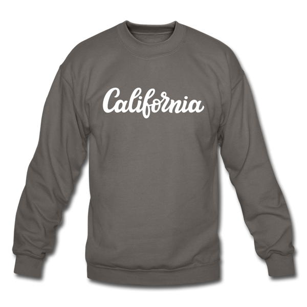 California Sweatshirt - Hand Lettered California Crewneck Sweatshirt - asphalt gray