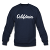California Sweatshirt - Hand Lettered California Crewneck Sweatshirt - navy