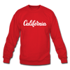California Sweatshirt - Hand Lettered California Crewneck Sweatshirt - red