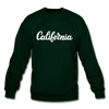 California Sweatshirt - Hand Lettered California Crewneck Sweatshirt - forest green