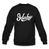 Idaho Sweatshirt - Hand Lettered Idaho Crewneck Sweatshirt - black