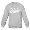 Idaho Sweatshirt - Hand Lettered Idaho Crewneck Sweatshirt - heather gray