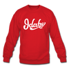 Idaho Sweatshirt - Hand Lettered Idaho Crewneck Sweatshirt - red