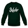 Idaho Sweatshirt - Hand Lettered Idaho Crewneck Sweatshirt - forest green