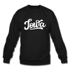 Iowa Sweatshirt - Hand Lettered Iowa Crewneck Sweatshirt - black