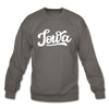 Iowa Sweatshirt - Hand Lettered Iowa Crewneck Sweatshirt - asphalt gray