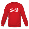 Iowa Sweatshirt - Hand Lettered Iowa Crewneck Sweatshirt - red