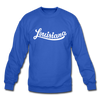 Louisiana Sweatshirt - Hand Lettered Louisiana Crewneck Sweatshirt - royal blue