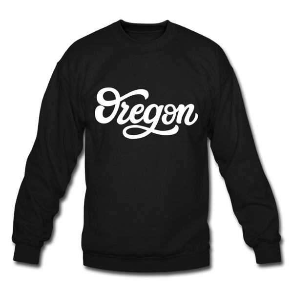 Oregon Sweatshirt - Hand Lettered Oregon Crewneck Sweatshirt - black