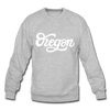 Oregon Sweatshirt - Hand Lettered Oregon Crewneck Sweatshirt - heather gray