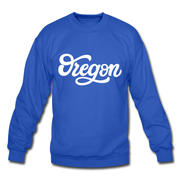Oregon Sweatshirt - Hand Lettered Oregon Crewneck Sweatshirt - royal blue