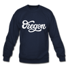 Oregon Sweatshirt - Hand Lettered Oregon Crewneck Sweatshirt - navy