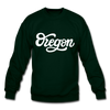 Oregon Sweatshirt - Hand Lettered Oregon Crewneck Sweatshirt - forest green