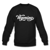 Wyoming Sweatshirt - Hand Lettered Wyoming Crewneck Sweatshirt - black