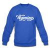 Wyoming Sweatshirt - Hand Lettered Wyoming Crewneck Sweatshirt - royal blue