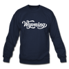 Wyoming Sweatshirt - Hand Lettered Wyoming Crewneck Sweatshirt - navy