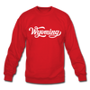 Wyoming Sweatshirt - Hand Lettered Wyoming Crewneck Sweatshirt - red