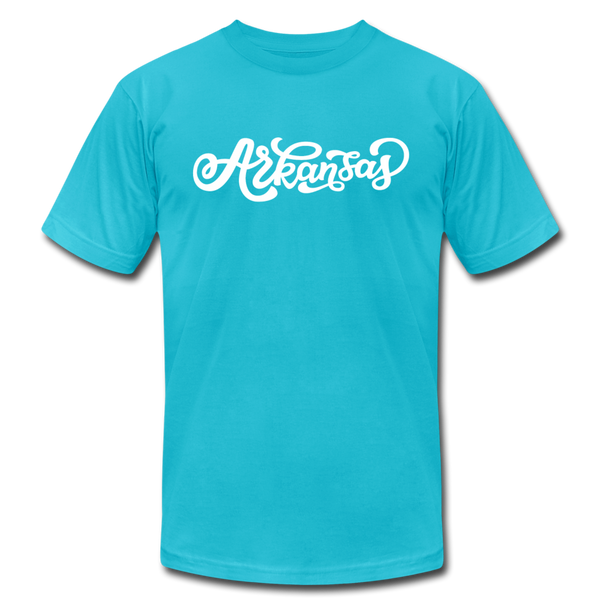 Arkansas T-Shirt - Hand Lettered Unisex Arkansas T Shirt - turquoise
