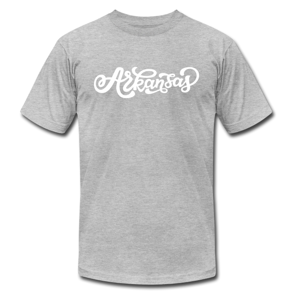Arkansas T-Shirt - Hand Lettered Unisex Arkansas T Shirt - heather gray