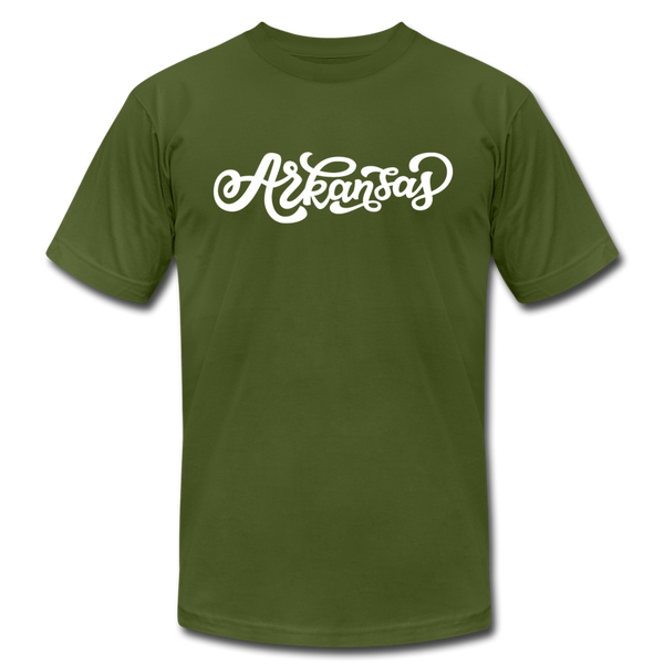 Arkansas T-Shirt - Hand Lettered Unisex Arkansas T Shirt - olive