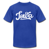 Iowa T-Shirt - Hand Lettered Unisex Iowa T Shirt - royal blue