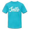 Iowa T-Shirt - Hand Lettered Unisex Iowa T Shirt - turquoise