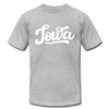 Iowa T-Shirt - Hand Lettered Unisex Iowa T Shirt - heather gray