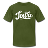 Iowa T-Shirt - Hand Lettered Unisex Iowa T Shirt - olive