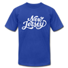 New Jersey T-Shirt - Hand Lettered Unisex New Jersey T Shirt - royal blue