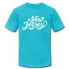 New Jersey T-Shirt - Hand Lettered Unisex New Jersey T Shirt - turquoise
