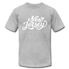 New Jersey T-Shirt - Hand Lettered Unisex New Jersey T Shirt - heather gray