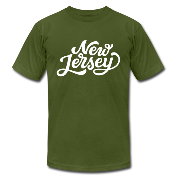 New Jersey T-Shirt - Hand Lettered Unisex New Jersey T Shirt - olive