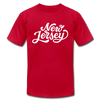 New Jersey T-Shirt - Hand Lettered Unisex New Jersey T Shirt - red