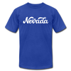 Nevada T-Shirt - Hand Lettered Unisex Nevada T Shirt - royal blue