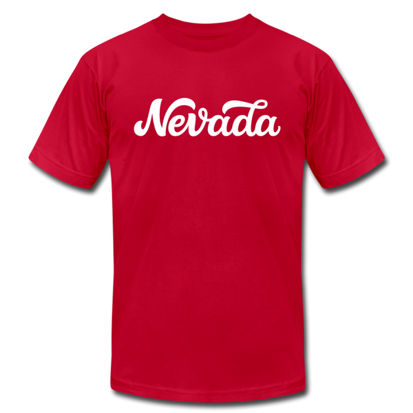 Nevada T-Shirt - Hand Lettered Unisex Nevada T Shirt - red