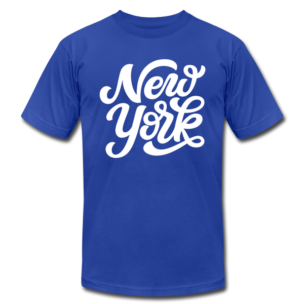 New York T-Shirt - Hand Lettered Unisex New York T Shirt - royal blue