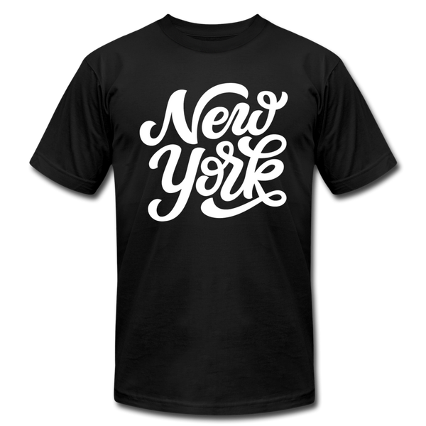 New York T-Shirt - Hand Lettered Unisex New York T Shirt - black