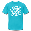 New York T-Shirt - Hand Lettered Unisex New York T Shirt - turquoise