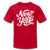 New York T-Shirt - Hand Lettered Unisex New York T Shirt - red