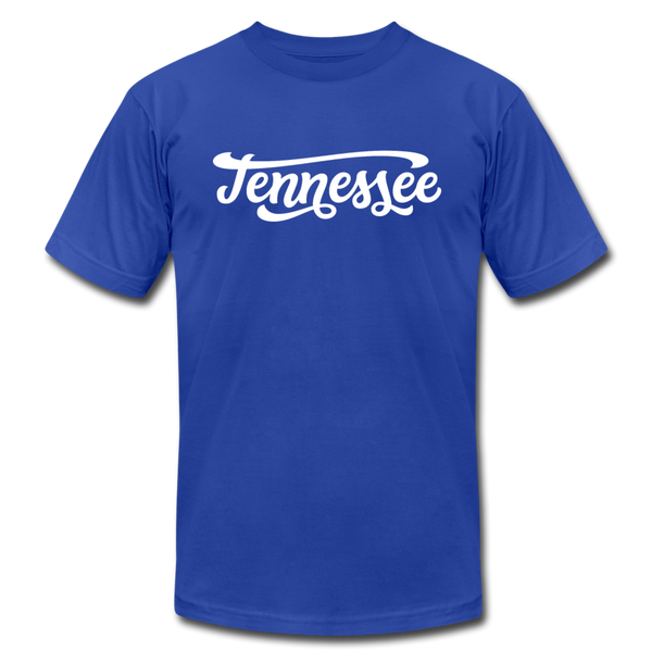 Tennessee T-Shirt - Hand Lettered Unisex Tennessee T Shirt - royal blue
