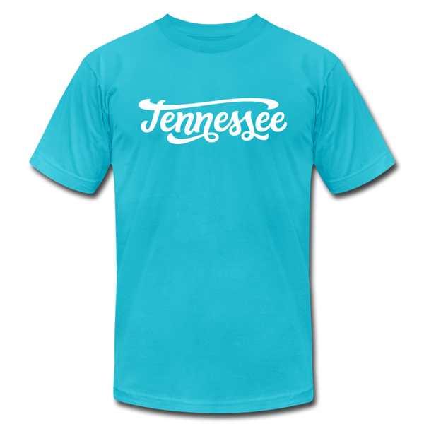 Tennessee T-Shirt - Hand Lettered Unisex Tennessee T Shirt - turquoise