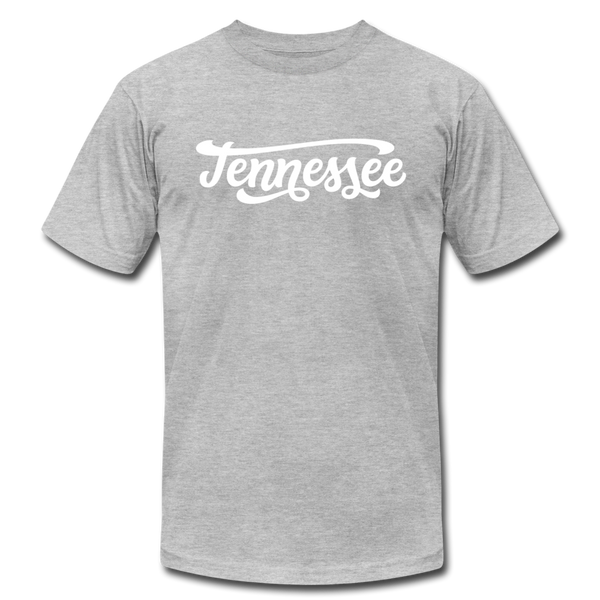 Tennessee T-Shirt - Hand Lettered Unisex Tennessee T Shirt - heather gray