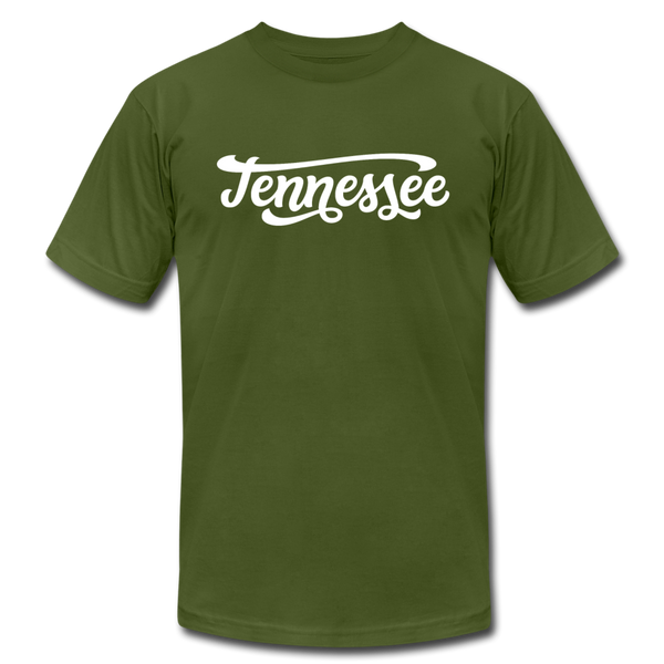Tennessee T-Shirt - Hand Lettered Unisex Tennessee T Shirt - olive