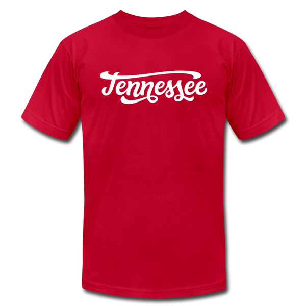 Tennessee T-Shirt - Hand Lettered Unisex Tennessee T Shirt - red