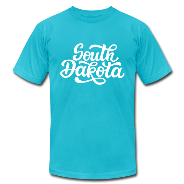 South Dakota T-Shirt - Hand Lettered Unisex South Dakota T Shirt - turquoise