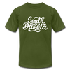 South Dakota T-Shirt - Hand Lettered Unisex South Dakota T Shirt - olive