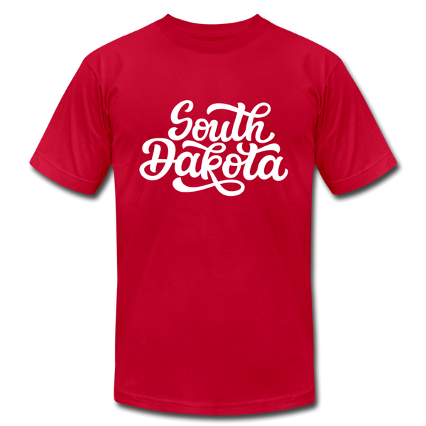 South Dakota T-Shirt - Hand Lettered Unisex South Dakota T Shirt - red
