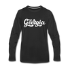 Georgia Long Sleeve T-Shirt - Hand Lettered Unisex Georgia Long Sleeve Shirt - black