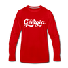 Georgia Long Sleeve T-Shirt - Hand Lettered Unisex Georgia Long Sleeve Shirt - red