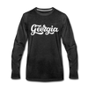 Georgia Long Sleeve T-Shirt - Hand Lettered Unisex Georgia Long Sleeve Shirt - charcoal gray